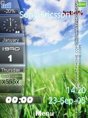 Nature Clock 05 es el tema de pantalla