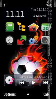 Soccer Ball 01 theme screenshot