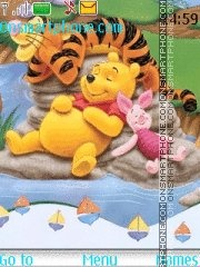Pooh Bear es el tema de pantalla