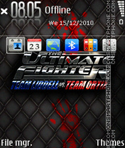 Ultimate fighter es el tema de pantalla
