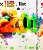New Year 2012 es el tema de pantalla