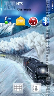 Winter Train theme screenshot