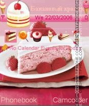 Strawberry Cake theme screenshot