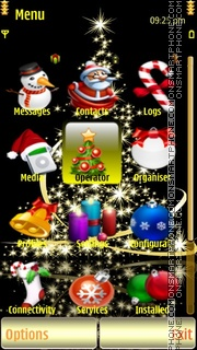 GoldenXmas Tree theme screenshot