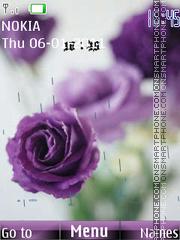 Purple flowers es el tema de pantalla