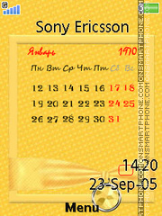 Yellow calendar es el tema de pantalla