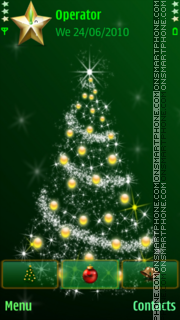 Green xmas tree theme screenshot