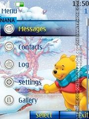 Winter Pooh Clock es el tema de pantalla