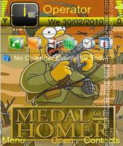 Medal of Homer es el tema de pantalla