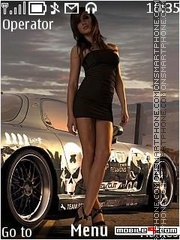 Need for speed girl in for 2 theme screenshot