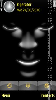 Black face theme screenshot