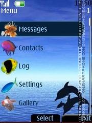 Dolphins Clock theme screenshot