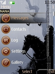 Black Horse Clock theme screenshot