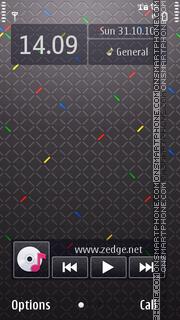 Black Abstract 02 theme screenshot