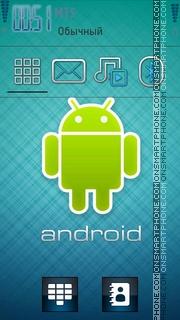 5800 Android Nokia tema screenshot