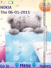 Teddy present tema screenshot