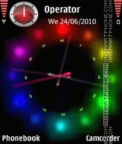 Glow Dot Clock theme screenshot