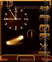 Animated Clock tema screenshot