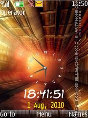 Orange dual clock theme screenshot