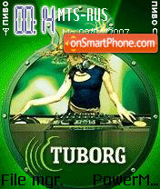 Tuborg 678 Animated theme screenshot