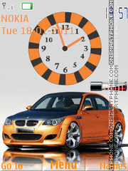 Bmw Clock W Signal theme screenshot