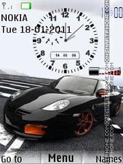 Porsche Clock 01 theme screenshot