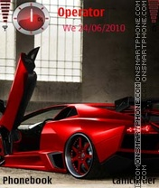 Lamborghini Red theme screenshot