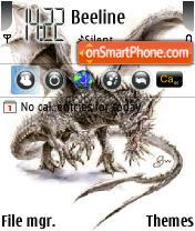 Dragon White es el tema de pantalla