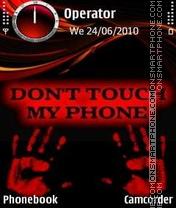 Dont Touch Phone es el tema de pantalla