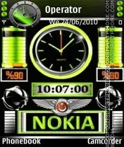 Green Swf Battery tema screenshot