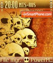 Skull Desktop theme screenshot
