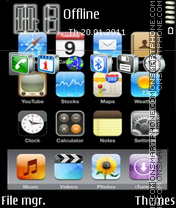 Iphone 08 theme screenshot