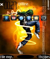 Electronic Dance 01 theme screenshot