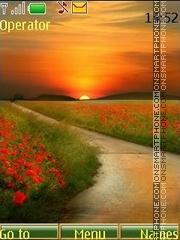 Solar poppies theme screenshot