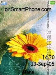 Yellow Flower 03 es el tema de pantalla