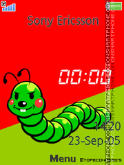 Insect Clock es el tema de pantalla