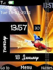 Mickey Magic Clock es el tema de pantalla