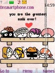Sushi 01 es el tema de pantalla