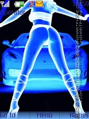 Animated Dancing Girl with car es el tema de pantalla