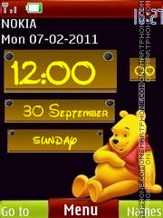 3d Cute Pooh Clock es el tema de pantalla