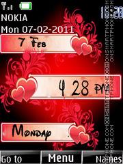 Love Clock 07 theme screenshot