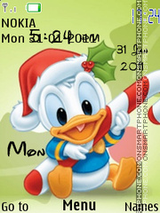 Baby Duck Clock theme screenshot
