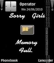 Memory-Full es el tema de pantalla