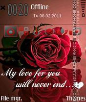 My Love 02 es el tema de pantalla