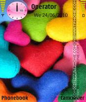 Colorded hearts es el tema de pantalla