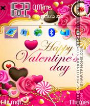 Valentines Day 15 es el tema de pantalla
