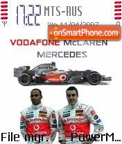 Vodafone Mclaren F1 theme screenshot