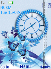 Blue 524 theme screenshot