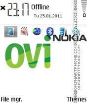 Ovi Nokia theme screenshot
