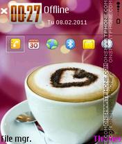 Love coffe es el tema de pantalla